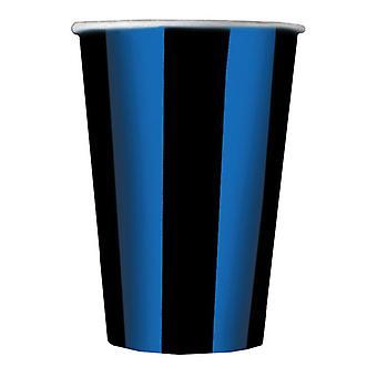 Blue & Black Soccer Football 33cm 3ply Lunch Napkin