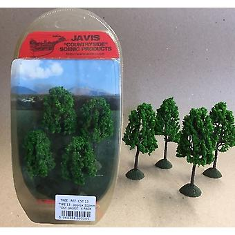 Countryside Trees Type 13 - 4 x 100mm OO Gauge