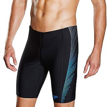Speedo Mens Logo Endurance + Placement Panel Swimming Shorts Jammers - Black