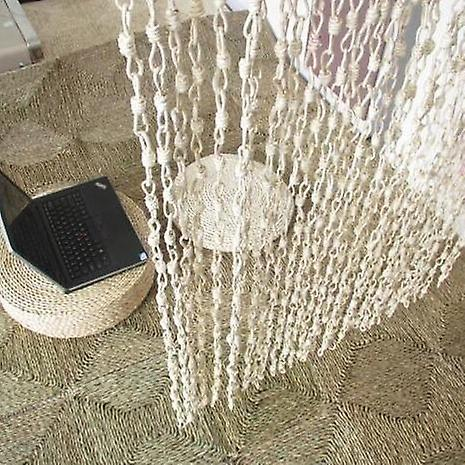 Bamboo Door Straw Braid Partition - Handmade Reed Curtain Hanging Room Divider Screen Partition