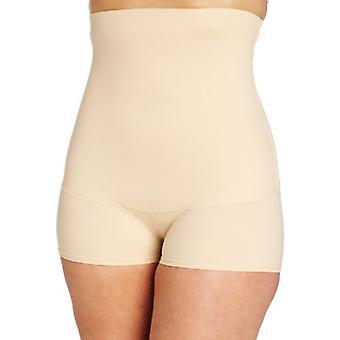 Maidenform Flexees Women's Shapewear Smoothing Hi-Waist Boyshort , Latte Lift...