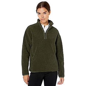 Marca - Daily Ritual Women's Teddy Bear Fleece Quarter Zip Jacket