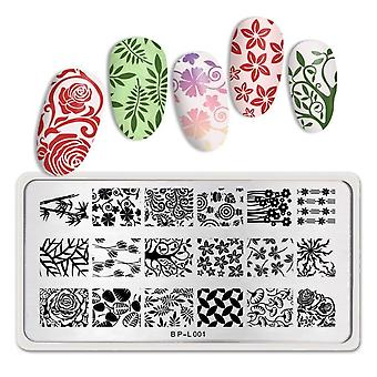 Nail Stamping Plates - Flower Elemental Nail Art Image Decoration