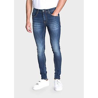 883 Police Super Skinny Blue Jeans