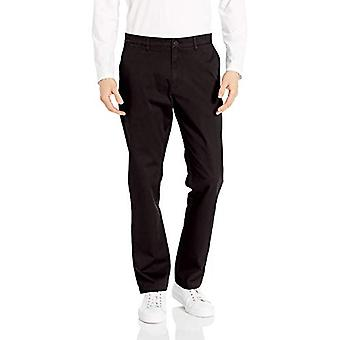 Marke - Goodthreads Men's Athletic-Fit Washed Comfort Stretch Chino Hose, schwarz, 42W x 34L