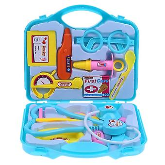 15 Pcs/set Children Pretend Play Doctor Nurse Kids Toys Set- Portable Suitcase Medical Kit Kids Educational Role Play
