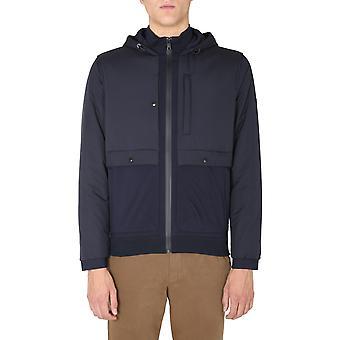 Z Zegna Vv472zz847b09 Men's Blue Viscose Outerwear Jacket