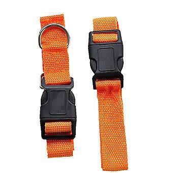 Adjustable Dog Hands Free Leash Waist Belt Buddy Jogging Walking Running Orange
