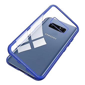 Stuff Certified® Samsung Galaxy Note 9 Magnetic 360 ° Case with Tempered Glass - Full Body Cover Case + Screen Protector Blue