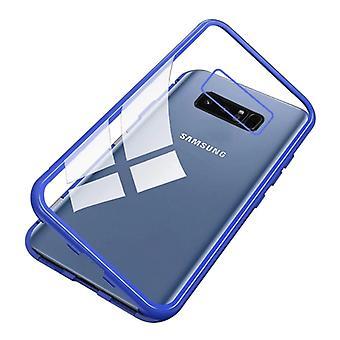 الاشياء المعتمدة® سامسونج غالاكسي ملاحظة 9 المغناطيسي 360 ° حالة مع الزجاج المقزز - كامل غطاء الجسم القضية + شاشة حامي الأزرق