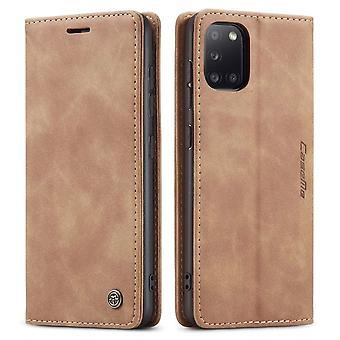 Samsung A31 Mål Ljusbrun - Retro Plånbok Slim