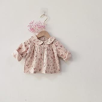 الفتيات بلوزات ملابس- طفل الخريف القمصان الرضع الأزهار طباعة طويلة الأكمام قمم الاطفال القطن قميص
