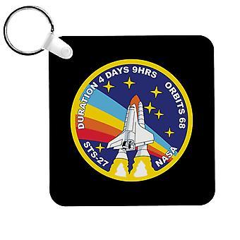 NASA STS 27 Atlantis Mission Badge Keyring