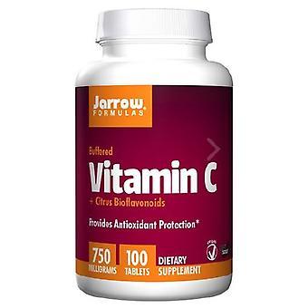 Jarrow Kaavat C-vitamiini (puskuroitu) + Sitrushedelmien bioflavinoidit, 750 mg, 100 Tabs