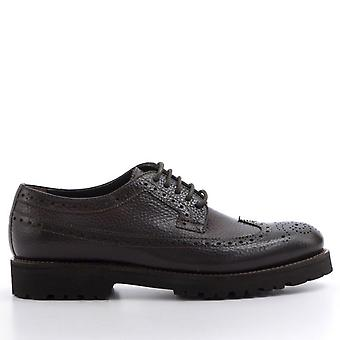 Hammered Leather Derby Lace-ups