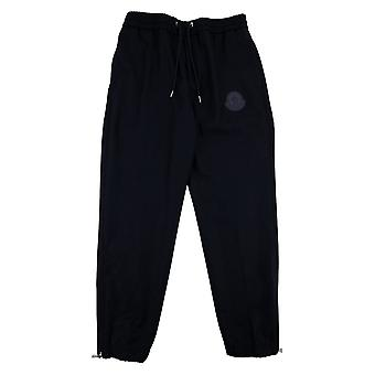 Moncler Rubber Logo Straight Cuff Pants Navy 742