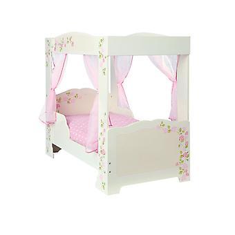 Rose 4 Poster Toddler Bed and Fibre Mattress