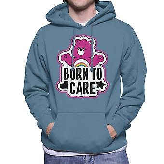 Care Bears Cheer Bear Born To Care Men's Hooded Sweatshirt