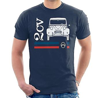 Citro?n White 2CV Racing Stripes Men's T-Shirt