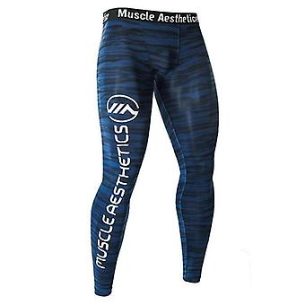 Mannen Compressie Tight Leggings Running Sports Man Gym Fitness JoggingBroek,
