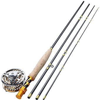 Fly Fishing, Combo Carbon, Fiber Rod And Reel Pesca