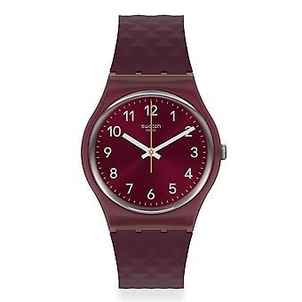 Swatch GR184 Rednel Red Silicone Watch