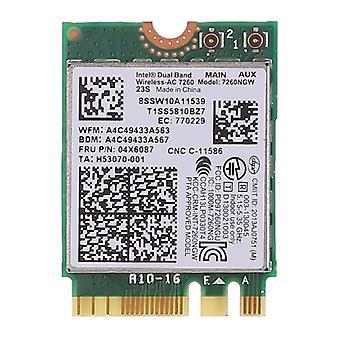 Dual Band AC1200 Wireless NGFF M.2 Wifi Card 7260NGW 7260AC Network Card for Lenovo T440 X240 B40 B50 Y40 Y70 Y50 7260AC