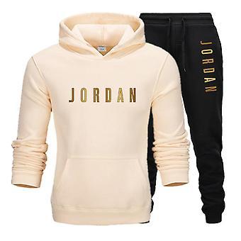 Men's Jordan 23 Letter Suit Brand Sportswear Sportwear Hoodie + Pantaloni Costum