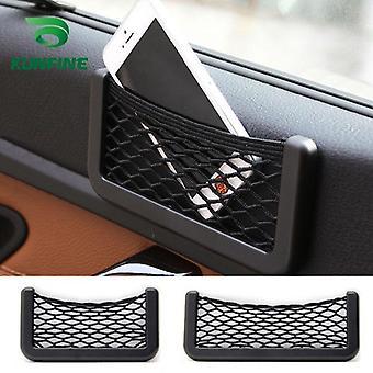 telefon lagring nett mesh spenstig bil bærer streng bag nylon nettverkslomme