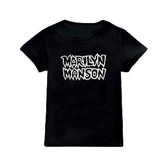 Marilyn Manson Kids T Shirt Classic Logo new Official Black Ages 5-14 yrs