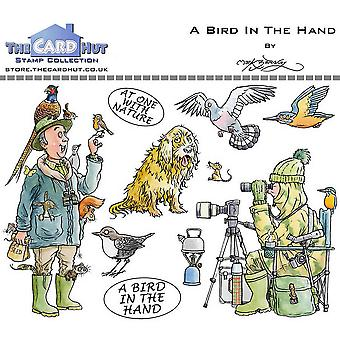 The Card Hut Great Outdoors: A Bird In The Hand Clear Stamps
