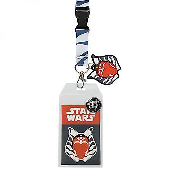 Star Wars Ahsoka Tano Lanyard With Charm and ID Holder