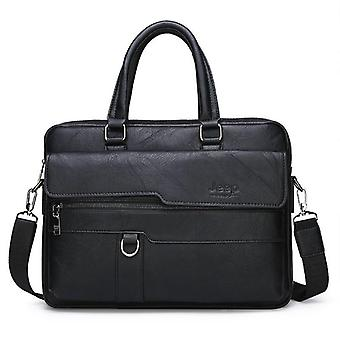 Business Briefcase Bag Split Leather Office Bags For 14 Inch Laptop A4 File
