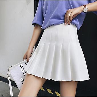 女性ハイウエストプリーツスウィートかわいいダンスミニスカート