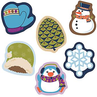 Winter Mix Mini Cut-Outs, Packung mit 38