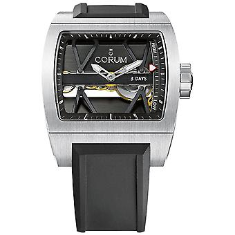 Ti-bridge power reserve watch for Analog Automatic Men with Rubber bracelet 107.101.04.F371.0000