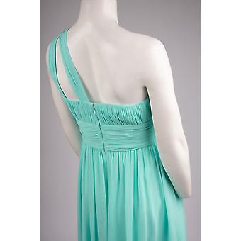 Morgna ena axeln Chiffong klänning