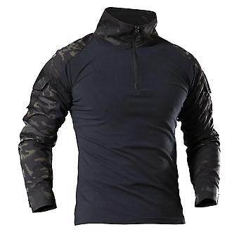Menn Army Tactical T Skjorte Swat Soldater Militære Combat T-skjorte Langermet