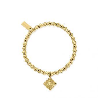 ChloBo Gold Didi Sparkle Lion Head Bracelet GBDS3089