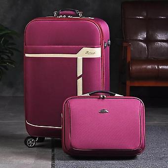 男性&女性トラベルラゲッジセット、トロリースーツケース、搭乗バッグ、ローリングオンホイール