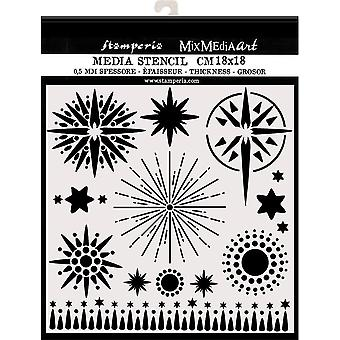 Stamperia Paksu Kaavain 18x18cm Tähdet