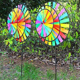 Rainbow Windmill Cloth Wind Spinner Toy