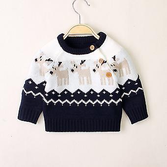 Newborn Baby Knitted Sweaters Winter Warm Long Sleeve Deer Top