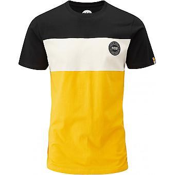 Moon Climbing Colour Block T-Shirt - Black/Stone/Gold