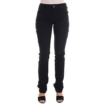Black Cotton Denim Stretch Regular Fit Jeans