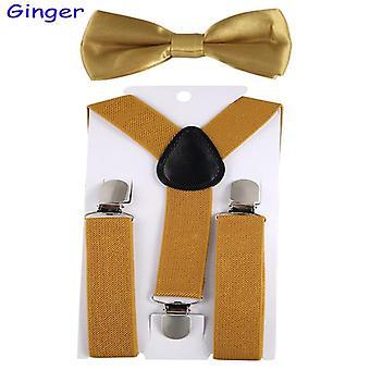 Kids Adjustable Elastic Suspenders With Bowtie Set Braces Suspenders Wedding