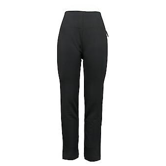 Nina Leonard Leggings 2-pack Fleece-Lined Black Jogger 729076