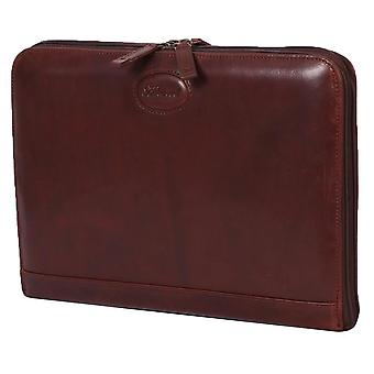 Ashwood Leather A4 Double Zip Tablet Organiser - Brown
