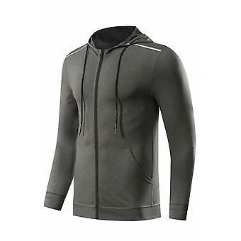 Men Sports Fitness Long Sleeve Tight Zipper Slim Hiking Sweatshirts Jackets