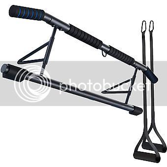 2-i-1 pull-up bar med Sling Trainer, Premium Pull Up Bar för dörrkarm, skruvlös dörrstång, dörrstång